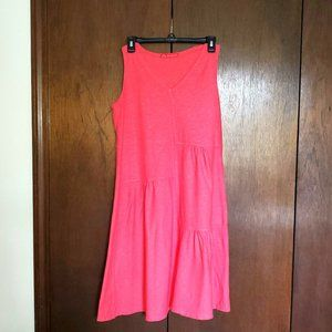 Casual summer dress, peach colored, size S